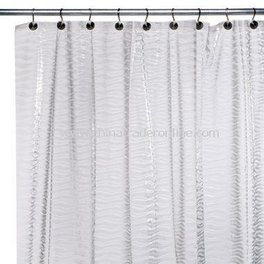 Waves EVA Shower Curtain