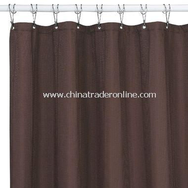 Weston Mocha Fabric Shower Curtain