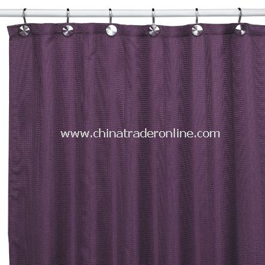 Weston Purple Fabric Shower Curtain
