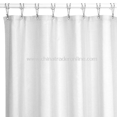 Weston White Fabric Shower Curtain