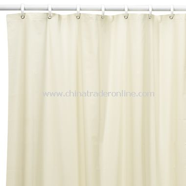 5-Gauge Vinyl Beige Splash Shower Curtain Liner