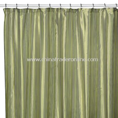 Andre Stripe Shower Curtain by Wamsutta - Green