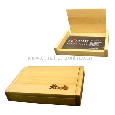 Bamboo Business Card Holder