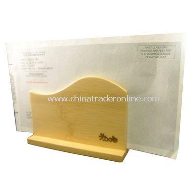 Bamboo Desktop Mail Holder