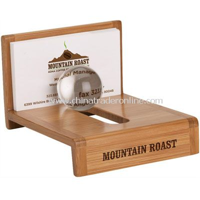 Globe Business Card Holder from China