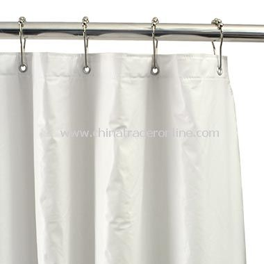 Heavyweight White Shower Curtain Liner