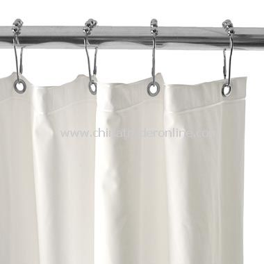 Heavy Gauge White Shower Curtain Liner