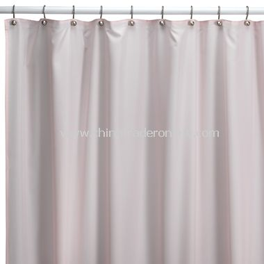 Hotel Pink Fabric Shower Curtain Liner from China