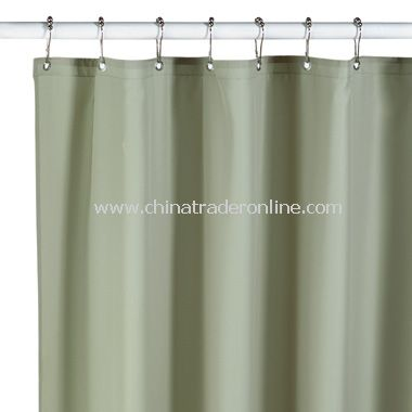 Hotel Sage Fabric Shower Curtain Liner