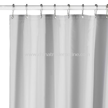 Hotel Silver Fabric Shower Curtain Liner from China