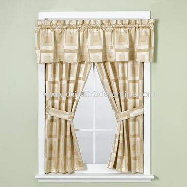 Metro Ivory Bathroom Window Valance