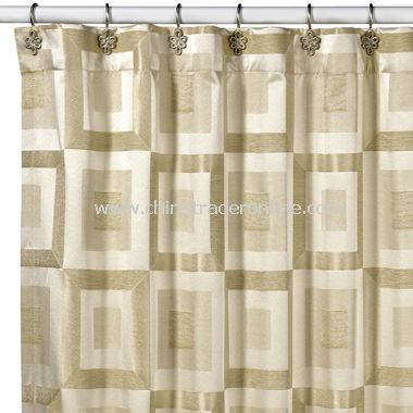 Metro Ivory Shower Curtain by Croscill