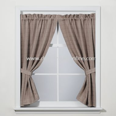 Parachute Linen Bath Window Panel Pair