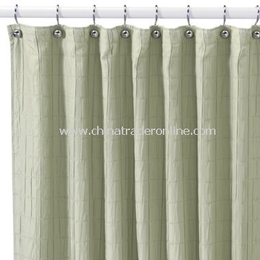 Nice Parachute Sage Fabric Shower Curtain