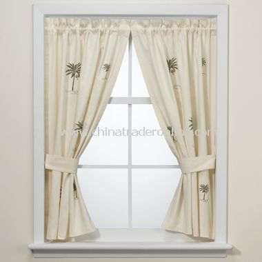 Port Of Call Bathroom Window Curtain Pair