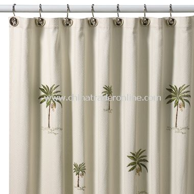 ... Port Of Call Fabric Shower Curtain By Croscill, 100% Cotton