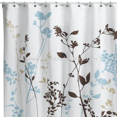 2-in-1 Bubbles on a String Fabric Shower Curtain - Coffee,2-in-1 ...