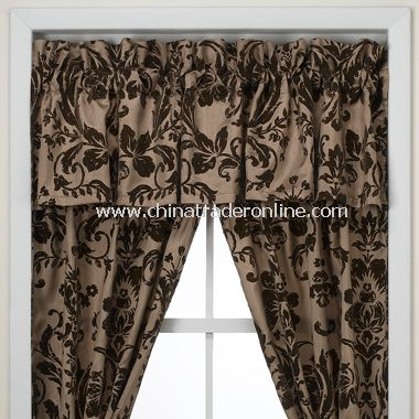Rosewood Brown Window Valance by Nicole Miller