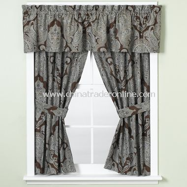 Royalton Chocolate Bathroom Window Valance