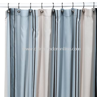 West End Fabric Shower Curtain by Nautica
