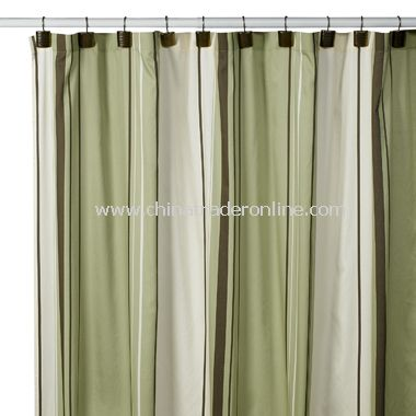 West End Green Shower Curtain by Nautica