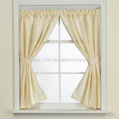 Weston Ivory Bathroom Window Curtain Pair