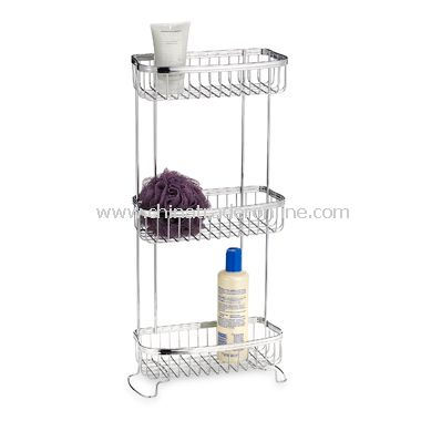 wholesale Axis Polished Chrome 3-Shelf Bath Tower-buy discount Axis ...
