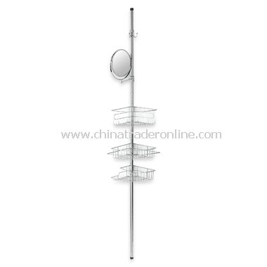 Chrome Caddy Tension Pole with Mirror