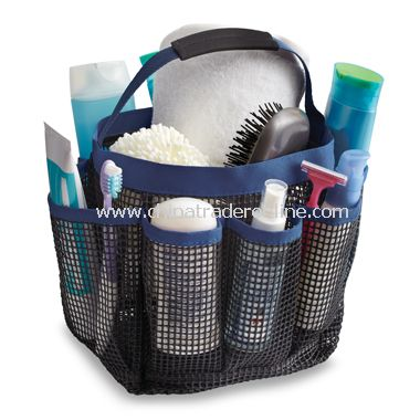 Mesh Shower Tote - Black