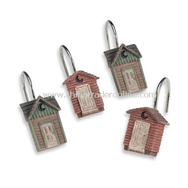 Outhouses Shower Curtain Hooks (Set of 12)
