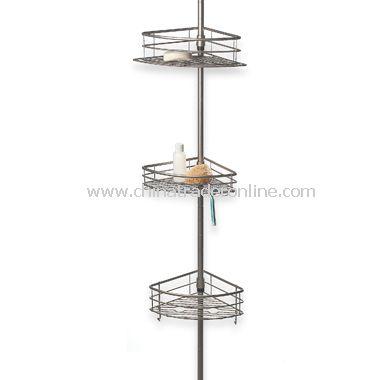 Oversized 3-Tier Pole Caddy - Satin Nickel