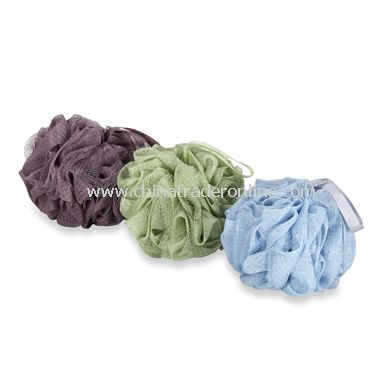 Paris Presents Mesh Bath Sponges (3-Pack) - Multicolor