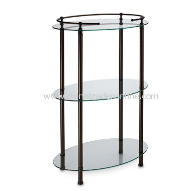 3-Shelf Oval Taboret - Bronze