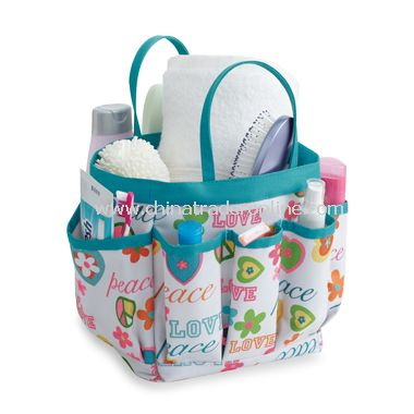 Fabric Shower Tote - Peace
