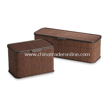 Formbu Bamboo Espresso Toilet Tissue Box with Lid