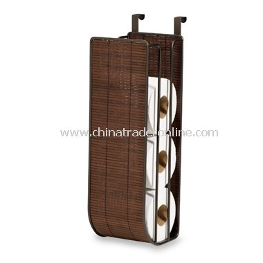 Formbu Espresso Bamboo Over-The-Tank Toilet Tissue Holder