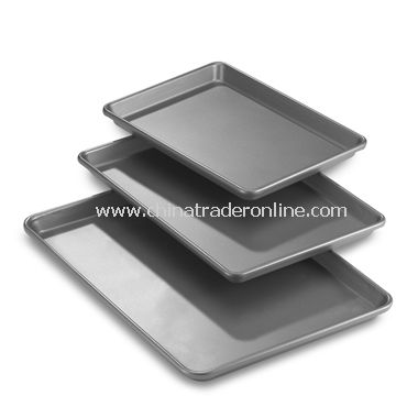 Chicago Metallic Professional 3-Piece Cookie/Jelly Roll Pans from China
