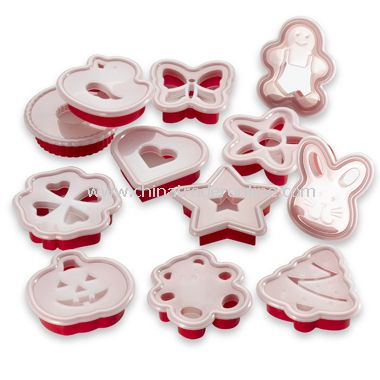 Bakers Cookie Cutter and Stencil Set