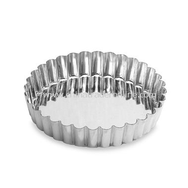 Round Fluted Tin Tart Mold with Removable Bottom
