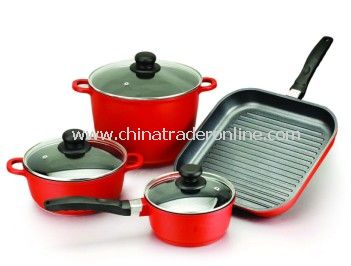 7pcs die cast aluminium cookware set