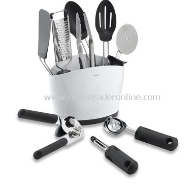 10-Piece Everyday Kitchen Tool Set in Crock