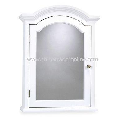 Arch Crown Molding White Medicine Cabinet