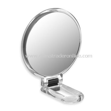 Folding Hand Held 10x Maginification Mirror