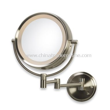 Illuminated 8x Wall Mirror
