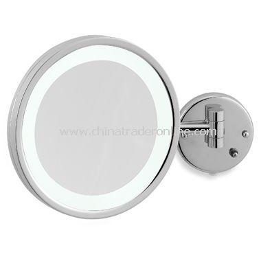 Jerdon 5X Chrome LED Wall Mount Mirror