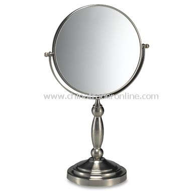 Satin Nickel Two-Sided Vanity Mirror