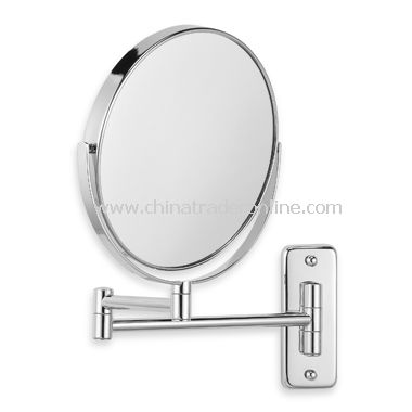 Wall-Mount 8X/1X Magnifying Swivel Mirror - Chrome