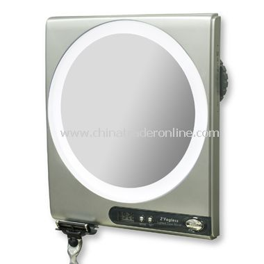 Z Fogless 5X/1X Power Zoom Lighted Shower Mirror