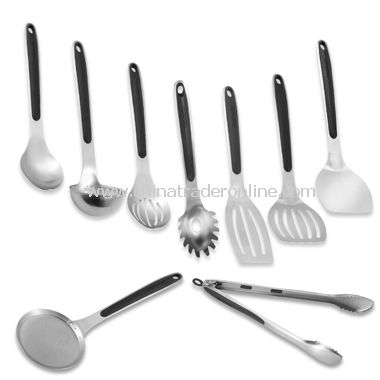 Calphalon Stainless Steel Utensils with Grip Anywhere Handles
