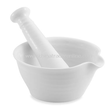 Sophie Conran White Mortar and Pestle for Portmeirion
